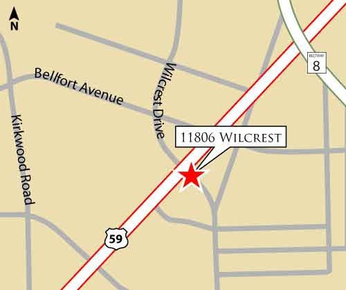 Wilcrest Property Location Map